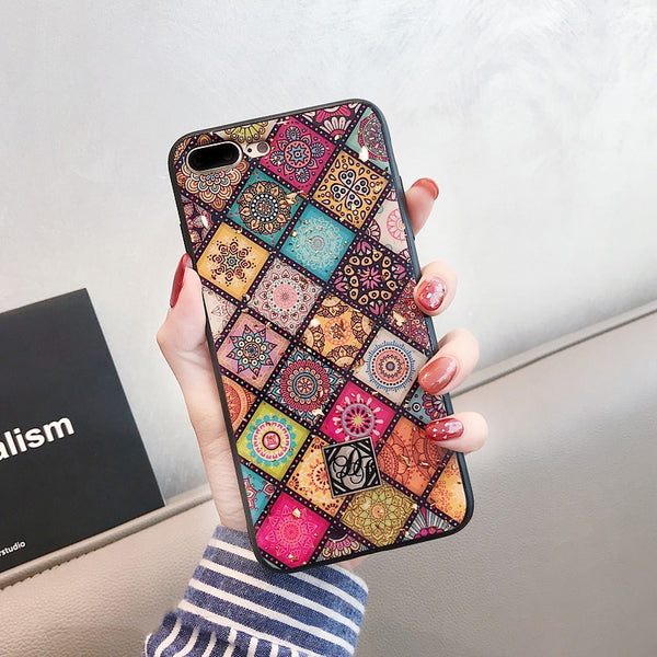 Phone Case - Geometric Art Lattice Phone Case for iPhone X XS Max XR