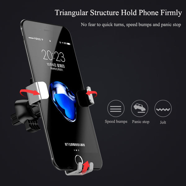 Gravity Car Phone Holder For iPhone & Samsung
