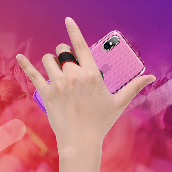 Phone Case - Fashion Car Holder Stand Magnetic Bracket Phone Case for iPhone X with Finger Ring