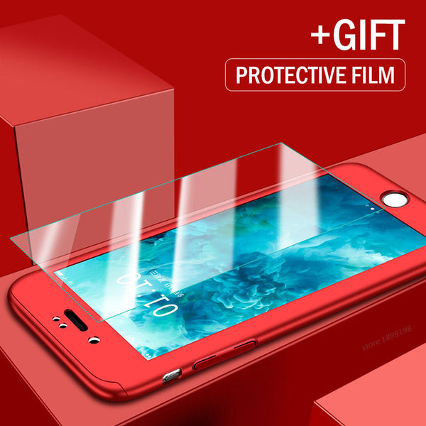 Phone Cases - 360 Full Protective Cover with Tempered Glass for iPhone