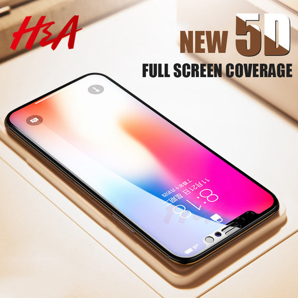 Phone Accessories +  News 5D Curved Premium Tempered Glass For iphone 8 7 6 6s Plus X