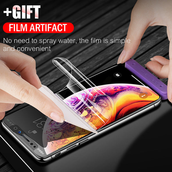 Phone Accessories - 6D Full Curved Edge Screen Protector 0.17mm Soft Hydrogel Film For iPhone XS Max X XR XS