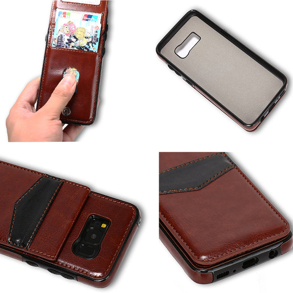 Phone Case - Multi Functional Leather Wallet Card Case Flip Covers For Samsung Galaxy