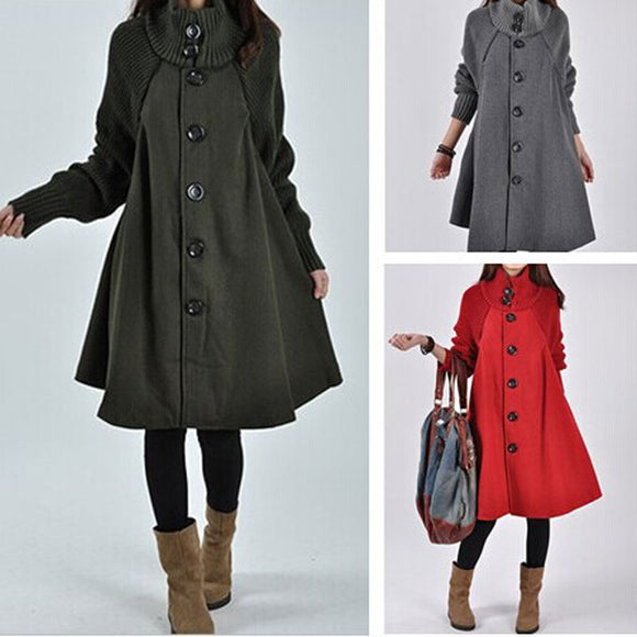 Windbreaker Loose Autumn Winter Wool Coat