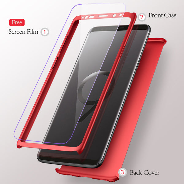 Phone Case - Luxury 360° Full Protection Cases For Samsung Galaxy Note 9 S9 S9+ Note 8 S8 S8+S7 S7Edge With Free Screen Film