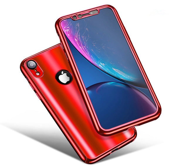 Phone Case - 360° Full Protection Plating Mirror Case For iPhone XS/XR/XS Max X 8 7 6S 6/Plus 5 With Free Screen Protector Film