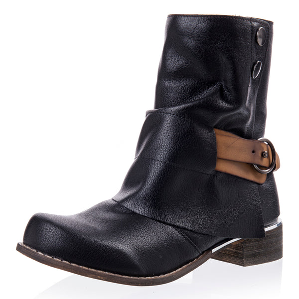 Shoes - Fashion Square Heel Zipper Ankle Boots(Buy 1 for 5% off! Buy 2 for 10% off!)