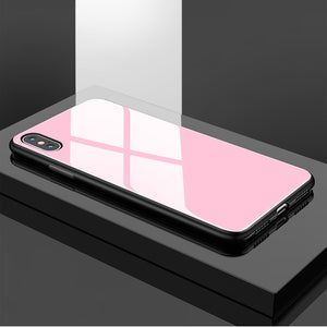 Phone Case - Luxury Protective Tempered Glass Soft TPU Bumper Shockproof Phone Case For iPhone X/XS/XR/XS Max 8/7 Plus