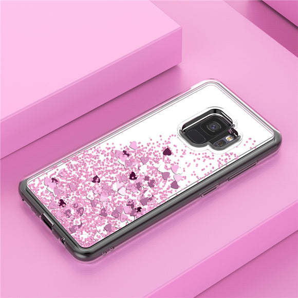 Liquid Glitter Quicksand Mirror Cover For Samsung S9 S8 S8Plus