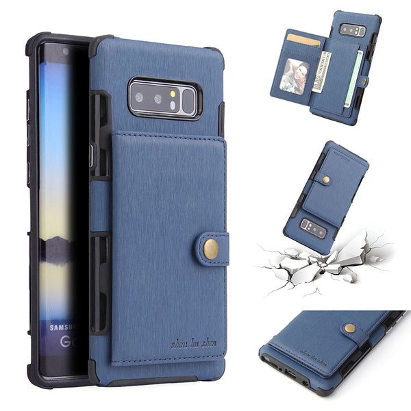 Luxury Buckle Card Holder Cases For Samsung Galaxy S8 S9+ Note 8 9
