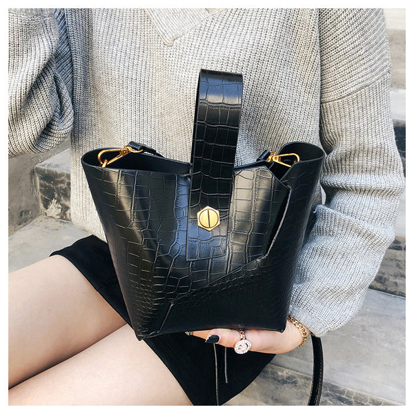 2018 Vintage Fashion Leather Bucket Bags