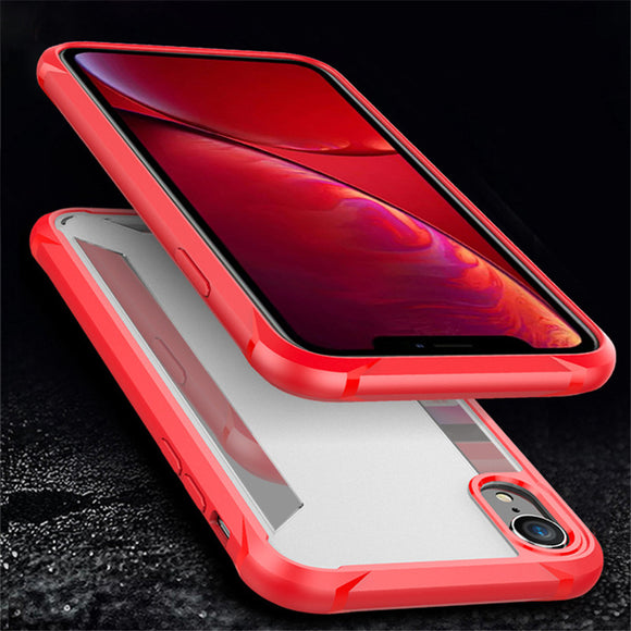Phone Case - Luxury Hybrid Fosted PC Backplane & Soft TPU Edge Shockproof Phone Case For iPhone XS/XR/XS Max 8/7 Plus