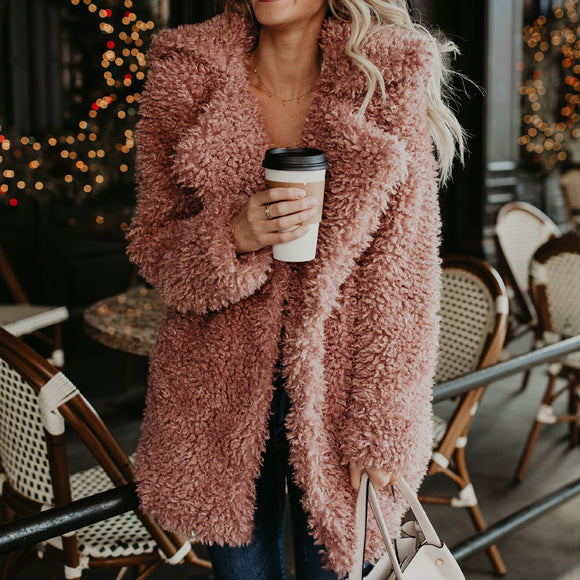 Women's Clothing - Women's Fluffy Faux Fur Thicken Coat