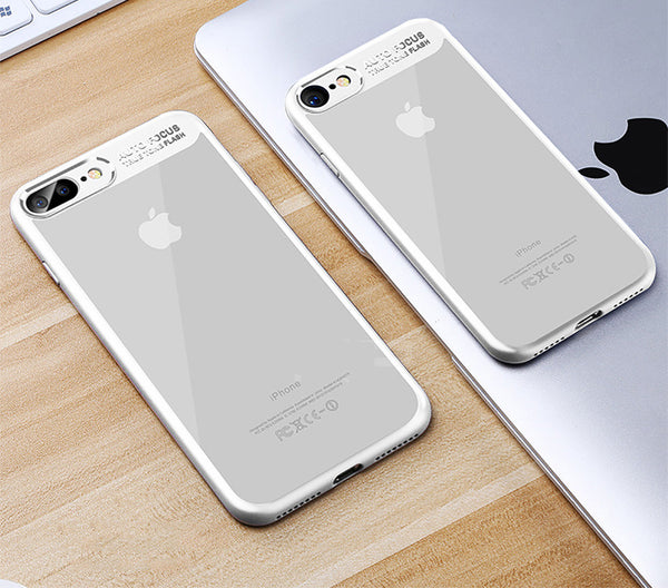 Phone Case - Full Protective Acrylic Transparent Back Cover For iPhone X 8/7/6S/6  Plus