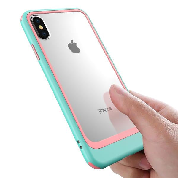 Phone Case - Luxury Shockproof PC + TPU Protection Case For iPhone X XS XR XS Max 8 7/Plus