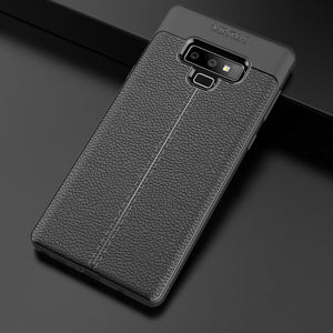 Phone Case - Luxury Litchi Leather Soft Silicon Anti-knock Cover For Samsung Note 9/8 S9 S8/Plus