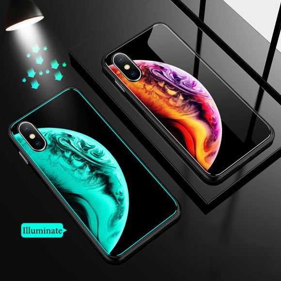 Phone Accessories - Luminous Tempered Glass Case For iPhone