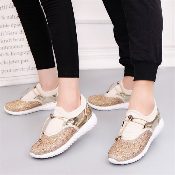 Outdoor Light Sneakers Comfortable Lovers Slip On Massage Flats
