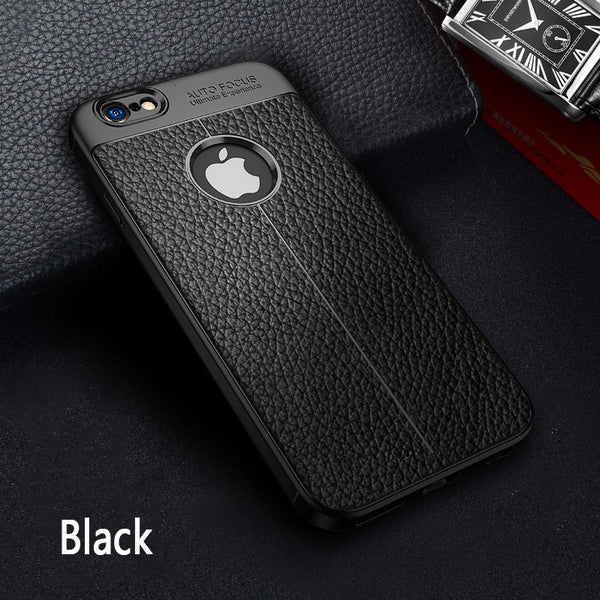 2019 Fashion Plain Business Leather Case For iPhone X XR XS Max 7 8 Plus