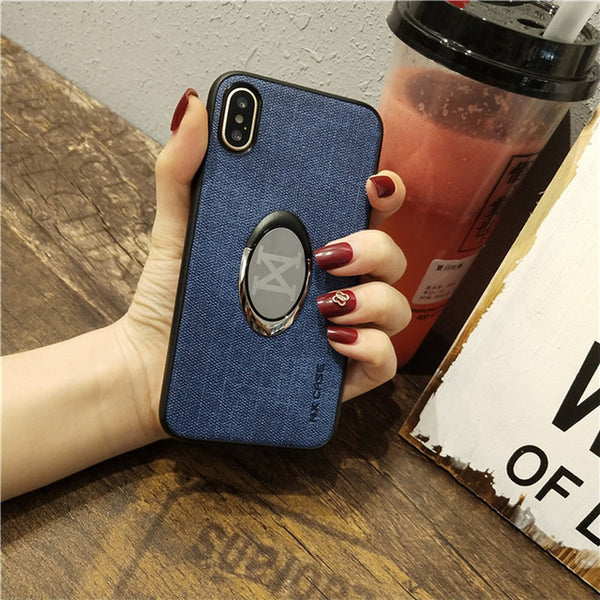 Phone Accessories - Ring Holder Magnetic Car Stand Cover For iPhone X XR Xs Max