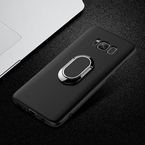 Phone Accessories - Car Holder Stand Magnetic Suction Bracket Ring TPU Cover Case For Samsung S8 Plus S9 Note 8