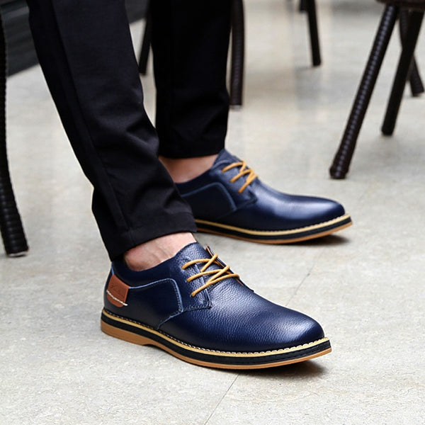 Men's Shoes - Fashion Casual Style Lace Up Oxfords Leather Shoes