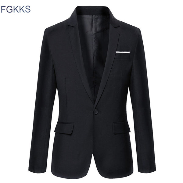 Men's Clothing - Autumn Suit Men Fashion Slim Casual Suits