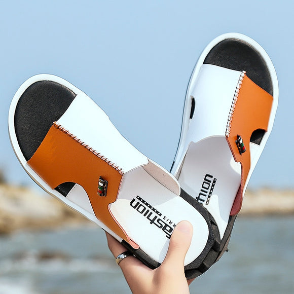 Shoes - 2020 Summer New Men Fashion Non-slip Flat Beach Slippers(Buy 2 Got 5% off, 3 Got 10% off Now)