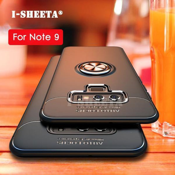 Fashion Ultra-Thin Car Holder Stand Magnetic Bracket Finger Ring TPU Case For Samsung Note9 Note 8 s7 s8 s9 plus