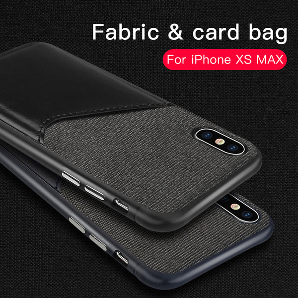 Phone Bag - Luxury canvas hard PC back panel and soft TPU edge For iPhone