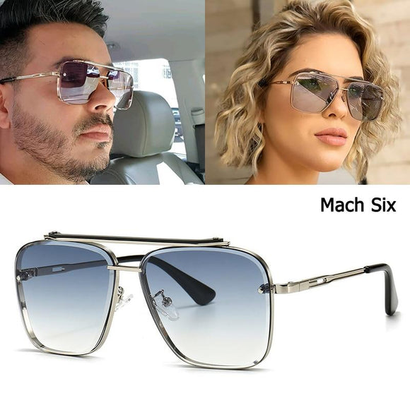 2021 Fashion Classic Mach Six Style Gradient Sunglasses