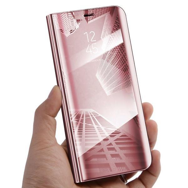 Phone Case - Luxury Mirror Smart Clear View Wallet Flip Case Stand Cover For Samsung