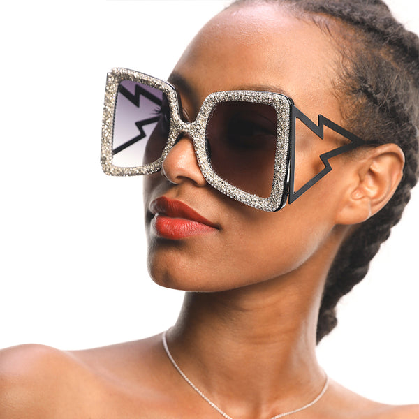 Sunglasses - Fashion Rhinestone Cat Eye Sunglasses