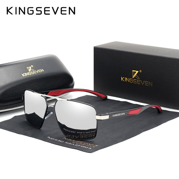 2020 NEW Arrival Aluminum Men's Polarized Lens Brand Red Design Temples Coating Mirror Sunglasses