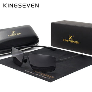 Sunglasses - Brand Design Men Driving Square Frame Polarized Sunglasses