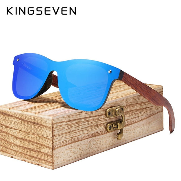 Kaaum Natural Handmade UV400 Polarized Wood Sunglasses