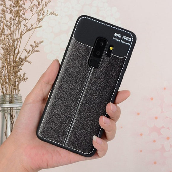 Phone Case - Luxury Litchi Pattern PU Leather Protective Phone Case For Samsung Galaxy S9/S8 Plus Note 9/8