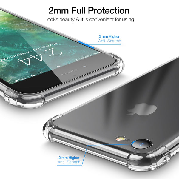 Phone Accessories - Luxury Clear Shockproof Soft Silicone Transparent Case For iPhone