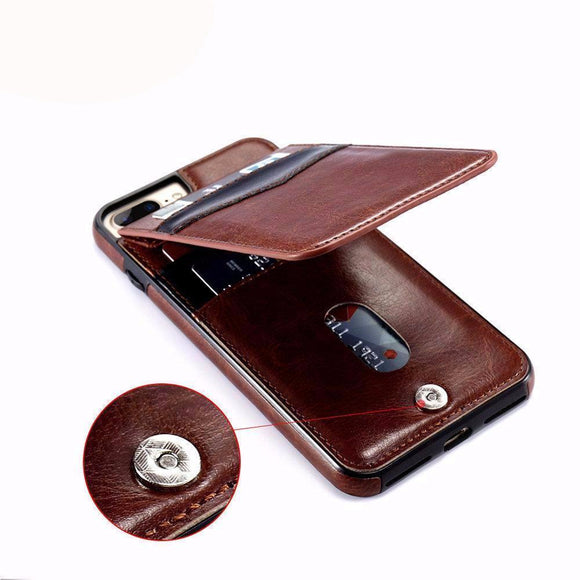 Phone Case - Luxury Flip Leather Wallet Cases For iPhone X 7 6 6s 8 Plus ( BUY ONE AND GET ONE 30% OFF )