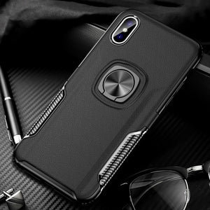 Phone Case - Metal Ring Shockproof Holder Phone Case for iPhone X XR XS MAX