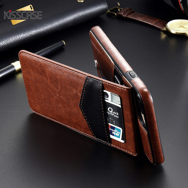 Phone Case - Luxury Flip Leather Wallet Cases For iPhone X 7 6 6s 8 Plus