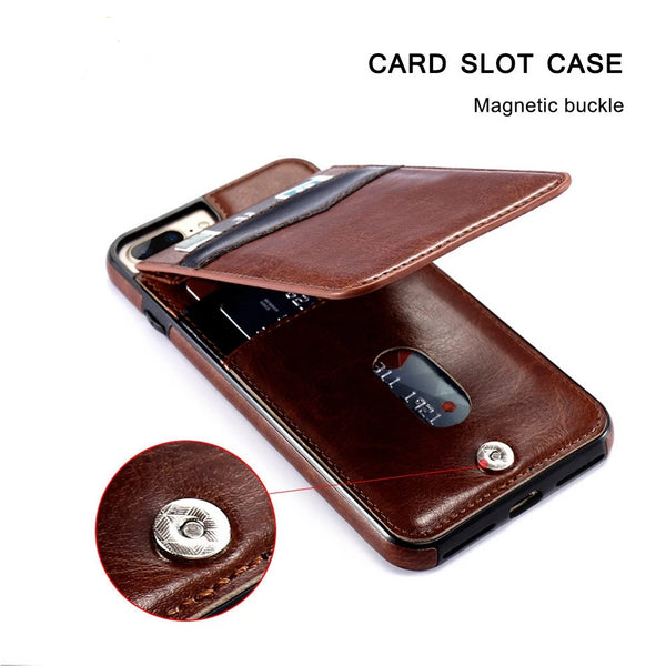 Phone Case - Luxury Flip Leather Wallet Cases For iPhone X 7 6 6s 8 Plus (Buy 2 Get 5% OFF, 3 Get 10% OFF)