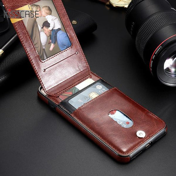 Luxury Retro Flip Leather Case With Card Pocket For iPhone (Extra Buy 2 Get 5% OFF, 3 Get 10% OFF)