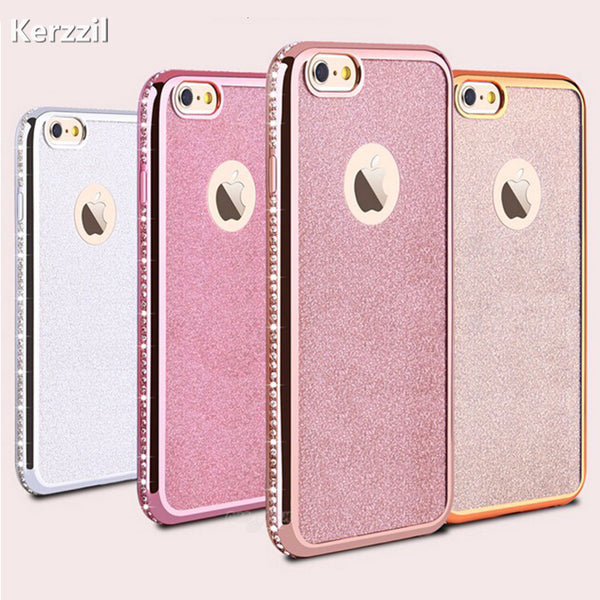 Phone Case - 3D Diamond Rug Bumpers Soft TPU Case+Bling Card Cover For iPhone X 8 8 Plus