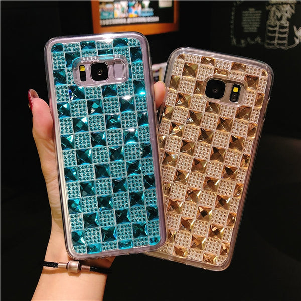 the latest 7d88f d700d Luxury Bling Diamond Case For Samsung S9 S8 Note 9 Note 8