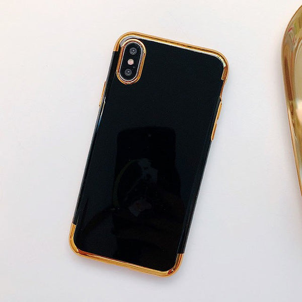 Phone Case - Luxury Candy Color Plating Smooth Protective Phone Case For iPhone XS/XR/XS Max 8/7 Plus