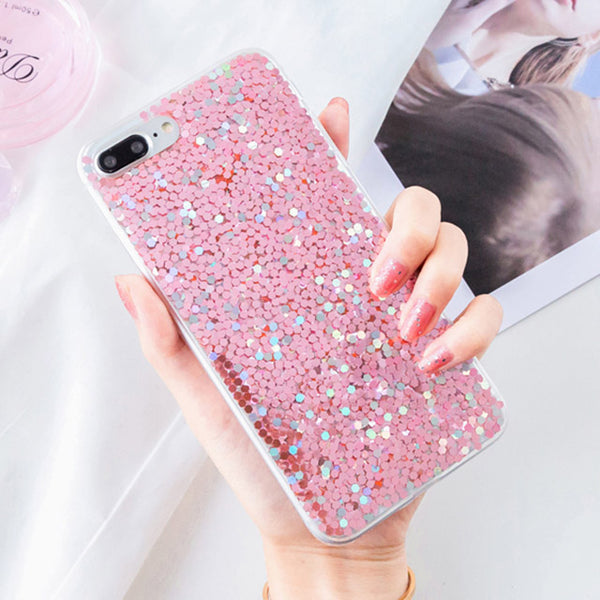 Phone Case -  Luxury Glitter Bling Sequins Shining Powder Phone Case For iPhone XS/XR/XS Max 8/7 Plus