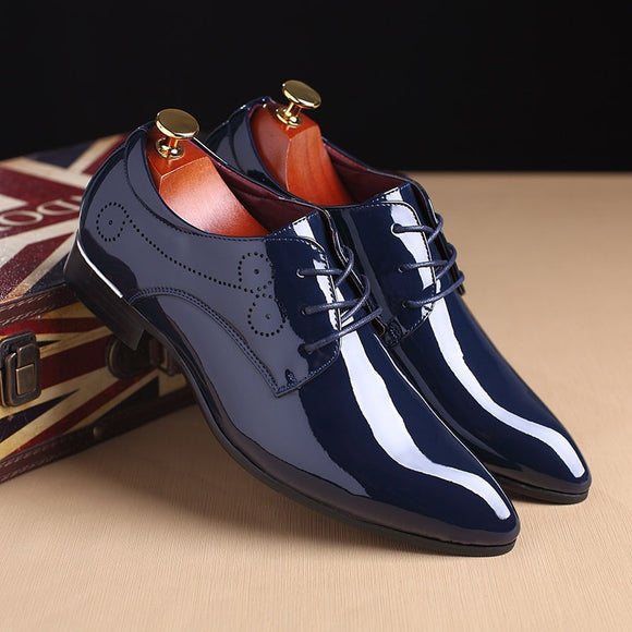 Men's Business Pointed Toe Wedding Shoes