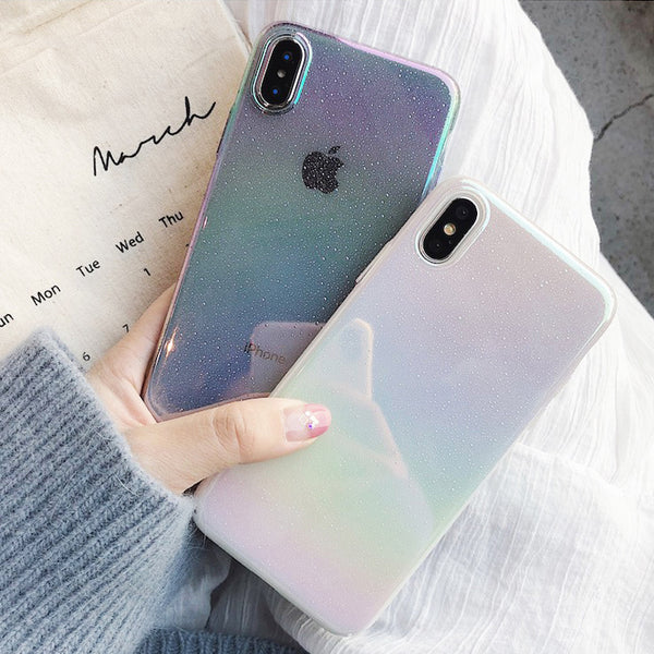 Phone Case - Luxury Gradient Rainbow Color Funny Water Drop Phone Case For iPhone XS/XR/XS Max 8/7 Plus