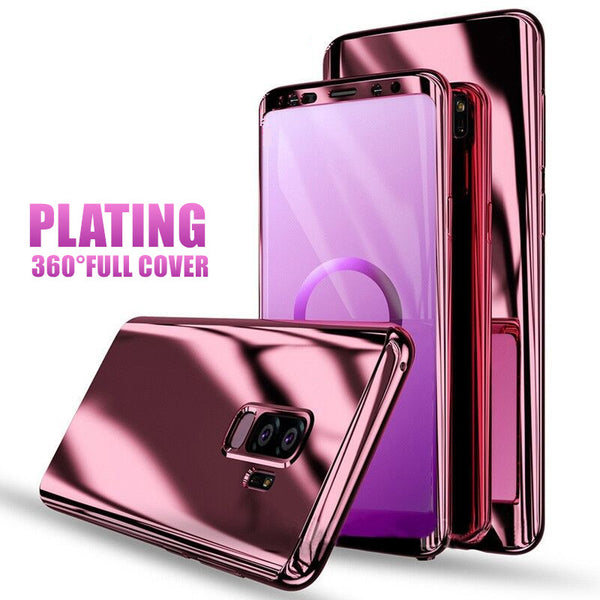 on sale e4e4c aa315 Phone Case - Luxury 360 Degree Plating Full Cover Shockproof Phone Case For  Samsung Galaxy S9 S8 Plus S7 Edge